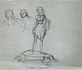Animation Art:Production Drawing, Pocahontas Illustration Animation Art (Walt Disney,1995)....