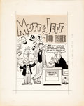 Original Comic Art:Covers, Mutt and Jeff Cover Original Art (DC, undated)....