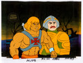 Animation Art:Production Cel, He-Man and the Masters of the Universe He-Man andMan-at-Arms Production Cel Setup with COA Animation Art (Filmation,... (Total: 3 Original Art)