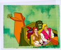 Animation Art:Production Cel, He-Man and the Masters of the Universe Prince Adam, Teela,Orko, and Cringer Production Cel Setup with COA Animation A...(Total: 2 Original Art)