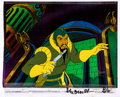 Animation Art:Production Cel, New Adventures of Flash Gordon Ming the Merciless ProductionCel Setup with COA Animation Art (Filmation, 1979).... (Total: 2Original Art)