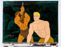 Animation Art:Production Cel, New Adventures of Flash Gordon Flash and Thun the Lion ManProduction Cel Setup with COA Animation Art (Filmation, 197...(Total: 4 Original Art)