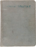 Football Collectibles:Others, 1955 Johnny Unitas Pittsburgh Steelers Personal Playbook. ...