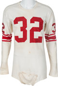 Football Collectibles:Uniforms, Late 1950's Al Blozis Presentational New York Giants Jersey - Once Displayed at Georgetown University....