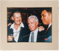 Baseball Collectibles:Photos, 1990's Legends of Sport Signed Oversized Photograph With Ali,DiMaggio & Williams. ...