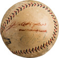 Autographs:Baseballs, 1923 New York Giants Team Signed Baseball....