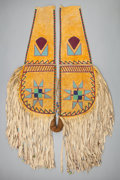 American Indian Art:Beadwork and Quillwork, A PLATEAU BEADED HIDE CRUPPER. c. 1910...