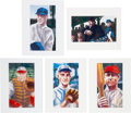 Baseball Collectibles:Others, 2013 Original Artwork by Pat David for Historic AutographsOriginals 1909-12 Edition, including Taft, Miller, Groh, Hoff andK...