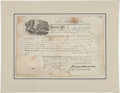 Autographs:Others, 1818 President James Monroe Signed Land Grant Document....