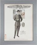 Baseball Collectibles:Others, 1913 Christy Mathewson Related Oversized Advertising Sign....