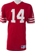 Football Collectibles:Uniforms, 1985-87 Ray Wersching Game Worn San Francisco 49ers Jersey, MEARS A10....