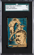 "Boxing Cards:General, Scarce 1930's D146 Doughnut Co. of America ""Thrilling Moments"" JohnL. Sullivan SGC 40 VG 3. ..."