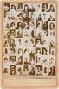 Boxing Cards:General, 1890's N150 Honest Long Cut Checklist Card with US Presidents,Celebrities and Boxer John L. Sullivan. ...