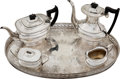 Football Collectibles:Others, 1966 World Champion Green Bay Packers Silver Tea Set - Lionel Aldridge Collection....