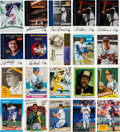 Autographs:Sports Cards, 1950's-2000's Signed Baseball Card Collection (380)....