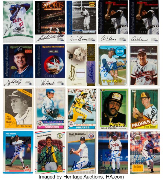 1950s 2000s Signed Baseball Card Collection 380 Autographs