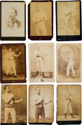 Boxing Cards:General, 19th Century Boxing Cabinet Photos Collection (9). ...