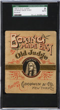 "Boxing Cards:General, Rare 1880's Old Judge ""Boxing Made Easy"" 12-Page Booklet SGCAuthentic...."