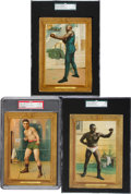 Boxing Cards:General, 1910 T9 Turkey Red Cabinet Boxers Trio (3) With Attell and Johnson. ...