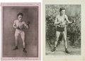 Boxing Collectibles:Memorabilia, Early 20th Century Police Gazette & Other Boxing Premiums Lot of 31....