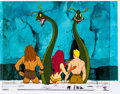 Animation Art:Production Cel, New Adventures of Flash Gordon Flash, Thun, and PrincessAura Production Cel Setup with COA Animation Art (Filmation, ...(Total: 3 Original Art)