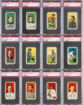 Baseball Cards:Lots, 1909-11 T206 White Border Collection (153) With Scarce Factory 42Overprints. ...