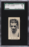 Boxing Cards:General, 1927 E211 York Caramel Prizefighters Fidel La Barba #32 SGC 60 EX 5- The ONLY Example on Record! ...