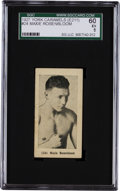 Boxing Cards:General, 1927 E211 York Caramel Prizefighters Maxie Rosenbloom #24 SGC 60 EX5 - Finest of Only Two Graded! ...