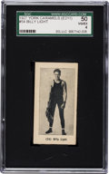 Boxing Cards:General, 1927 E211 York Caramel Prizefighters Billy Light #54 SGC 50 VG/EX 4- Finest SGC Graded Example! ...
