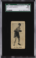 Boxing Cards:General, 1927 E211 York Caramel Prizefighters Mike Mandell #37 SGC 50 VG/EX4 - Finest SGC Graded Example! ...