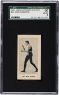 Boxing Cards:General, 1927 E211 York Caramel Prizefighters Mike Gibbons #33 SGC 50 VG/EX4 - Finest SGC Graded Example! ...