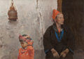 Fine Art - Painting, American:Contemporary   (1950 to present)  , MIAN SITU (Chinese/American, b. 1953). The Sitter. Oil oncanvas. 26 x 37 inches (66.0 x 94.0 cm). Signed lower right: ...