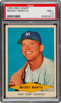 Baseball Cards:Singles (1950-1959), 1954 Red Heart Mickey Mantle PSA NM+ 7.5....