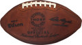 """Football Collectibles:Balls, 1960's Official NFL """"The Duke"""" Wilson Football - Extremely Scarce Prototype...."""
