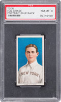Baseball Cards:Singles (Pre-1930), 1909-11 T206 Sweet Caporal Hal Chase, Blue Portrait PSA NM-MT 8....
