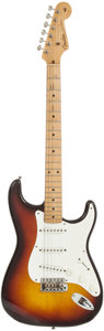 Musical Instruments:Electric Guitars, 1959 Fender Stratocaster Sunburst Solid Body Electric Guitar,Serial # 35385....