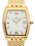Timepieces:Wristwatch, Like New/Old Stock Gent's Concord 14k Gold Wristwatch. ...