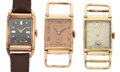 Timepieces:Wristwatch, Two Hamilton's & A Wakmann Vintage Manual Wind Wristwatches Runners. ... (Total: 2 Items)