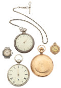 Timepieces:Other , A Lot Of Five Miscellaneous Watches. ... (Total: 5 Items)