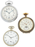 Timepieces:Pocket (post 1900), Three Open Face Pocket Watches Runners. ... (Total: 3 Items)