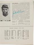 Autographs:Others, 1949 Jackie Robinson Twice Signed Brooklyn Dodgers Yearbook....
