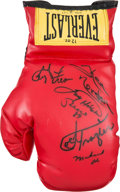 Boxing Collectibles:Autographs, 1990's Collection of Signed Boxing Gloves With Muhammad Ali &Champions Multi Signed Glove Lot of 8....