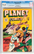 Golden Age (1938-1955):Science Fiction, Planet Comics #60 (Fiction House, 1949) CGC VF/NM 9.0 Off-white towhite pages....