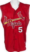 Baseball Collectibles:Uniforms, 2010 Albert Pujols Game Worn, Twice-Signed Charity Softball Jersey Seen on 60 Minutes Interview. ...