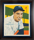"Baseball Collectibles:Others, Arthur Miller Original Art Joe DiMaggio ""Card That Never Was"" 1935Diamond Stars...."
