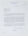 Autographs:Letters, 1960 Branch Rickey Signed Letter to Walter O'Malley....