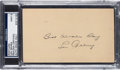 Autographs:Post Cards, 1938 Lou Gehrig Signed Government Postcard, PSA/DNA Mint 9....