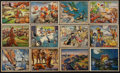 Non-Sport Cards:Sets, 1938 Horrors of War Starter Set (58) With 10 High Numbers. ...