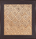 Tribal Art, Showa, Kuba Kingdom, (Democratic Republic of Congo) . Cut piletextile . First half 20th century. Raffia with natural dy...