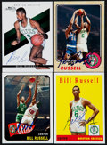 Basketball Cards:Lots, Bill Russell Signed Cards Lot of 4....
